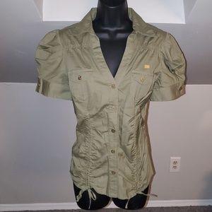 Apple Bottoms Tops - *NWOT* Short Sleeve Fitted Button Dress Shirt